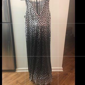 Chaps black & White Maxi Dress 22W
